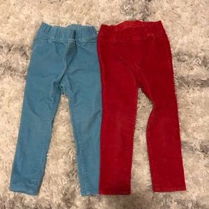 Lot of skinny Gap corduroy pants, 3T